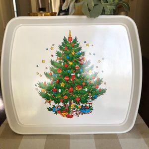 Vintage 1970'S Plastic Christmas Cookie Tray